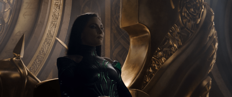 Hela on the throne