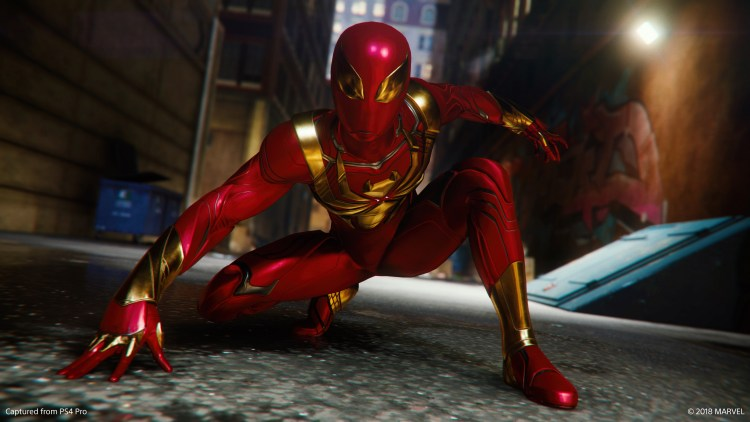 iron spider in the alley