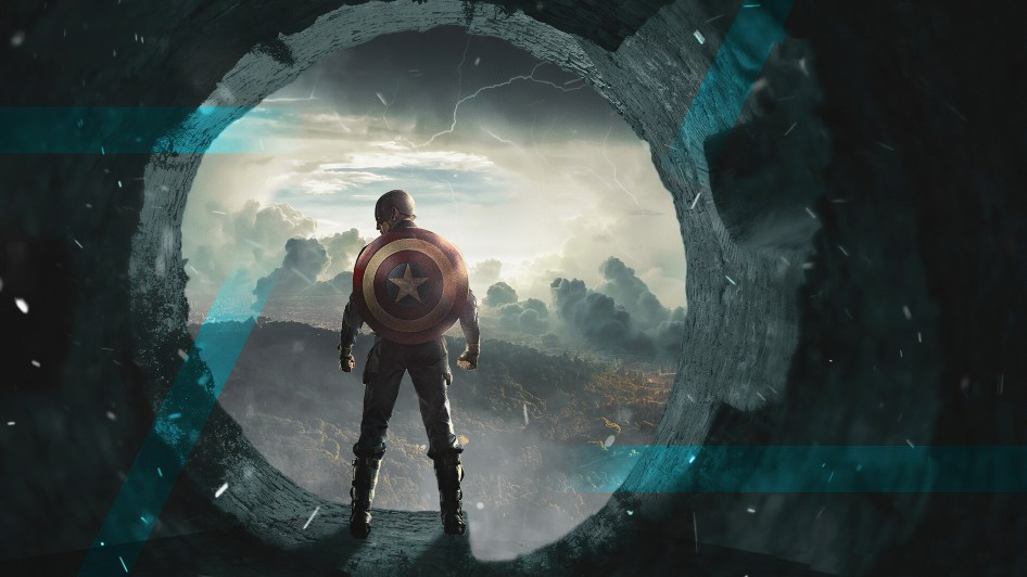 Captain America in the Portal