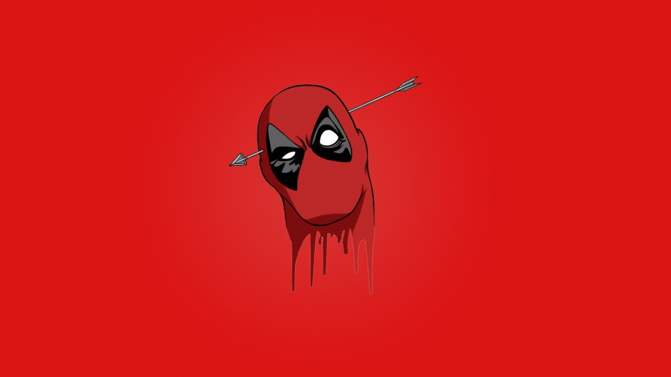 Deadpool with an arrow through his head