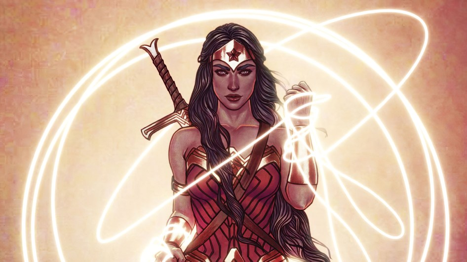 wonder woman with golden rope