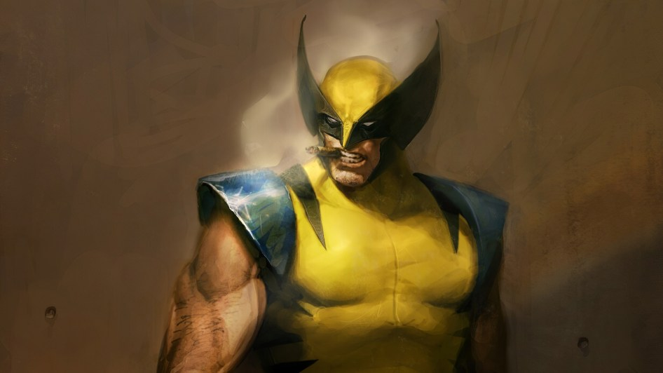 Wolverine Chomping On A Cigar