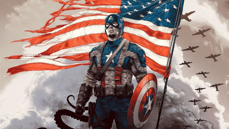 Patriotic Captain America