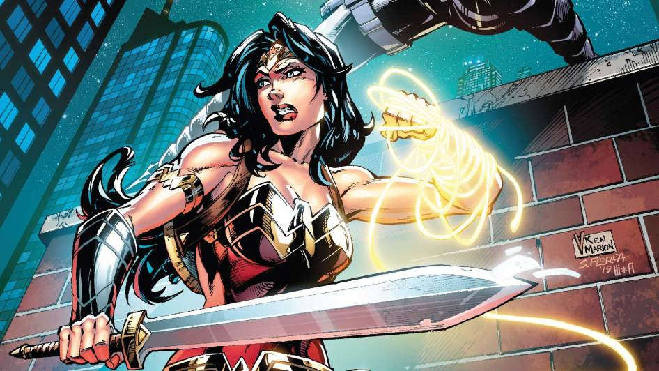 Wonder Woman has a golden arm