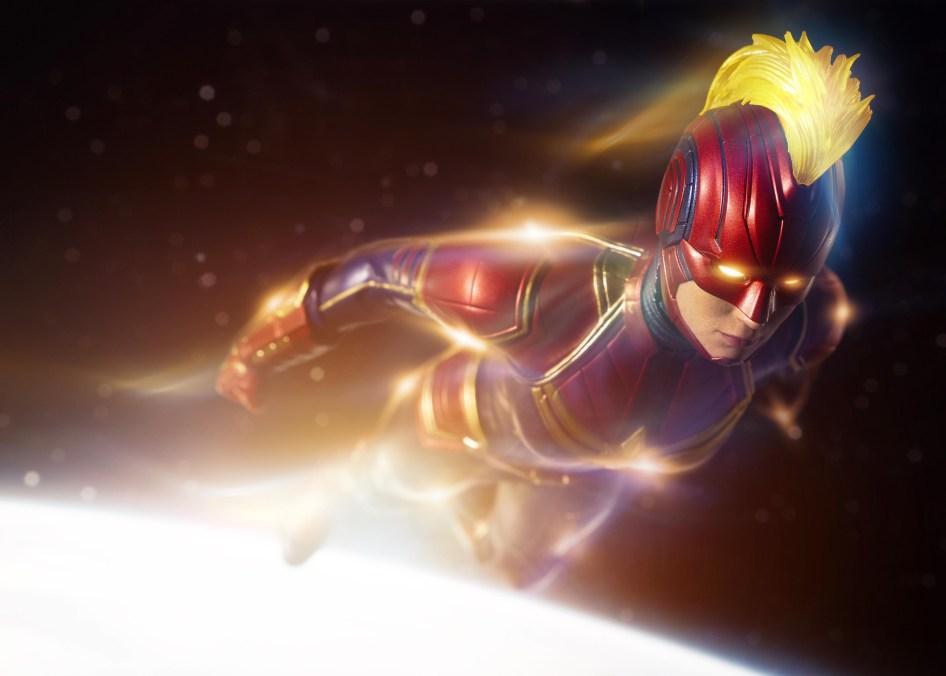 captain marvel in space