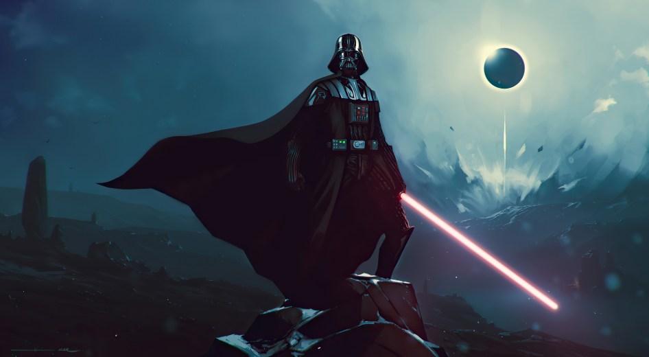 Vader on a Rock