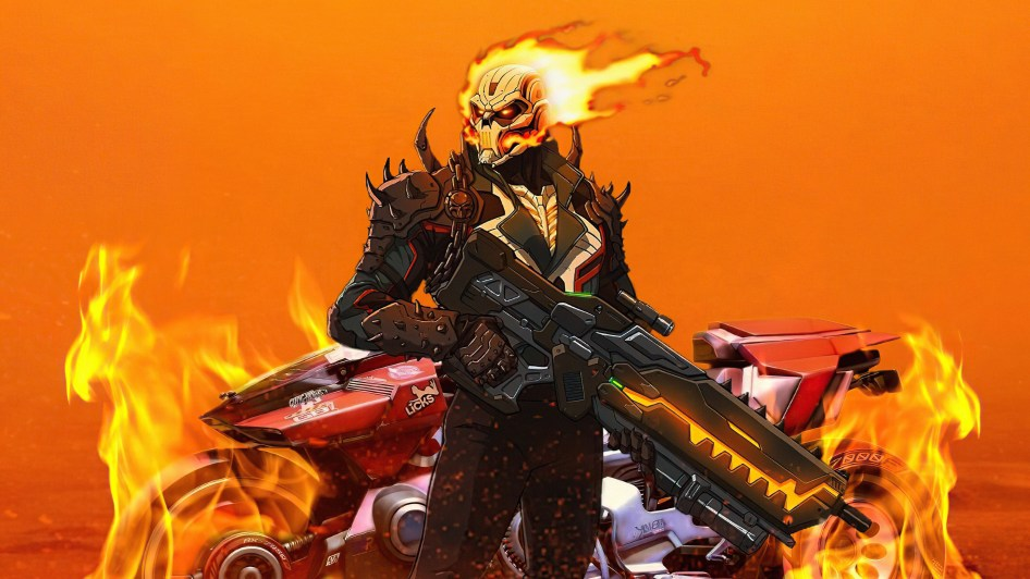 Ghost Rider with a gun