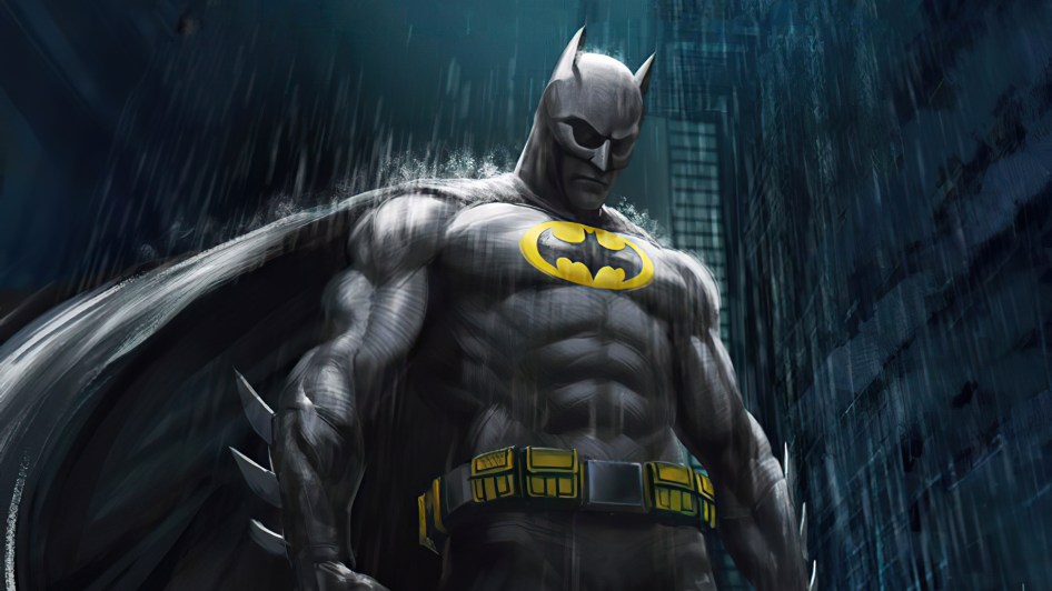batman in the rain is sad
