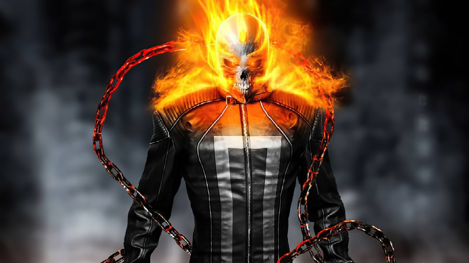 ghost rider has a nifty jacket