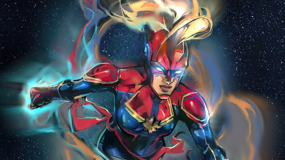 captain marvel in space