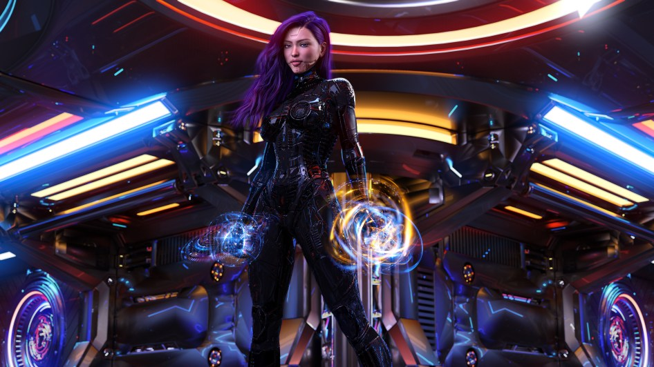 Fantasy Cyber Girl