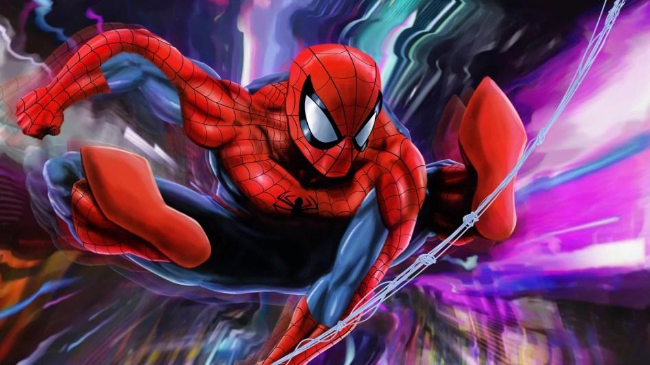 Spider-man's feet