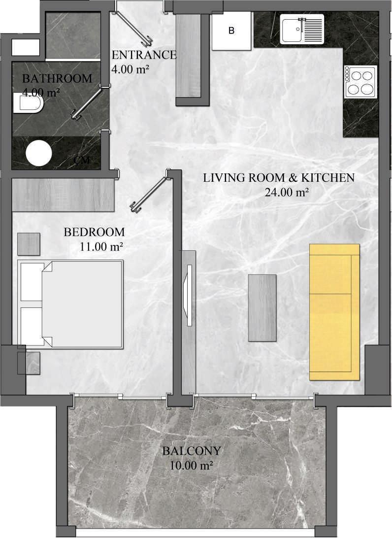 1 Bedroom Apartment 1 Type