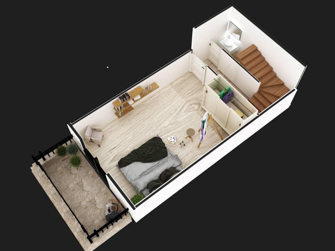Penthouse 3+1 up floor