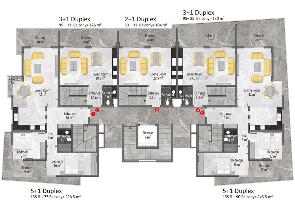 B block duplex 1st floor plan