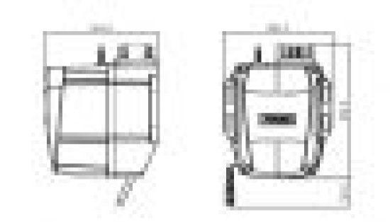 Motor za kapije dimenzije za montažu