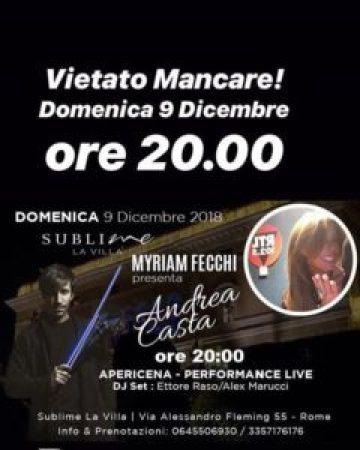 Il 9 dicembre Sublime La Villa