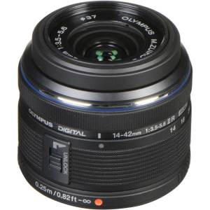 Olympus M.Zuiko Digital 14-42mm f3.5-5.6 II R Lens Black (ประกันศูนย์)
