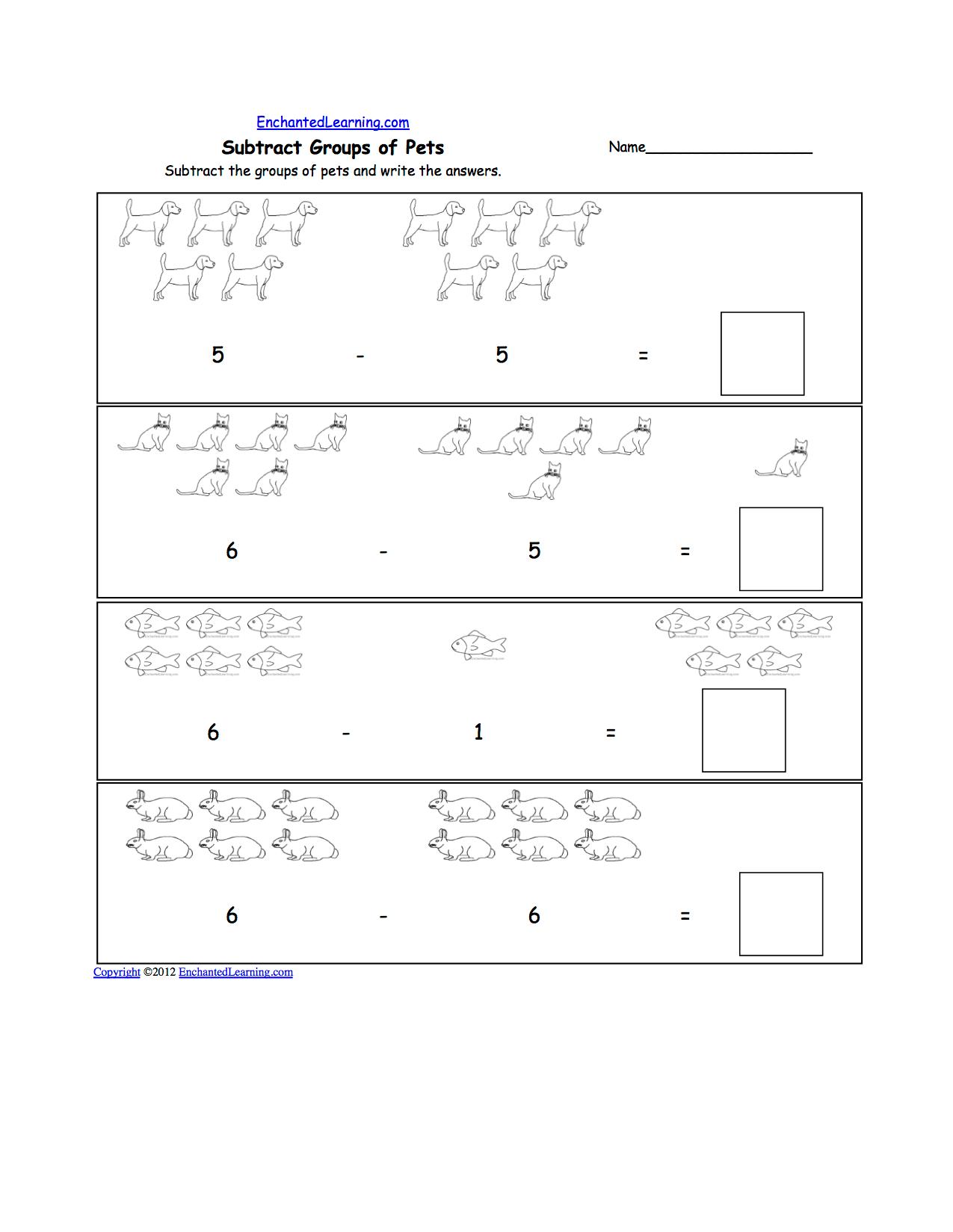 Pets Math And Logic Worksheets