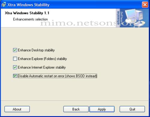 xtrawindowsstability
