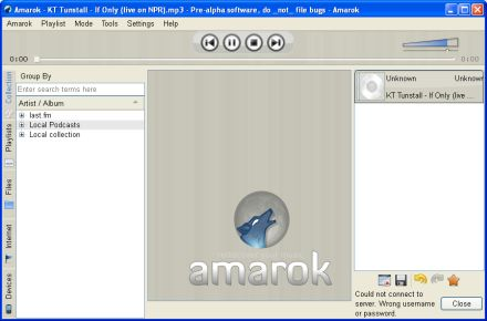 Rilasciato Amarok per Windows