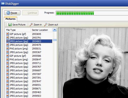 Recuperare File Cancellati con DiskDigger