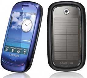 Il telefonino con i pannelli solari di Samsung: Blue Earth