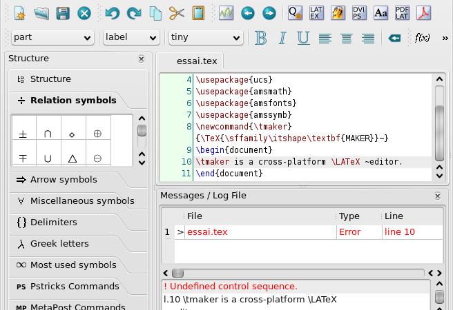 TexMaker: un editor LaTeX multipiattaforma