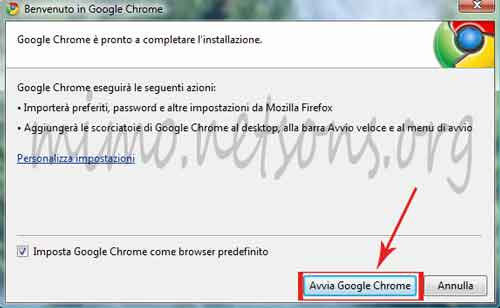 avvia-google-chrome
