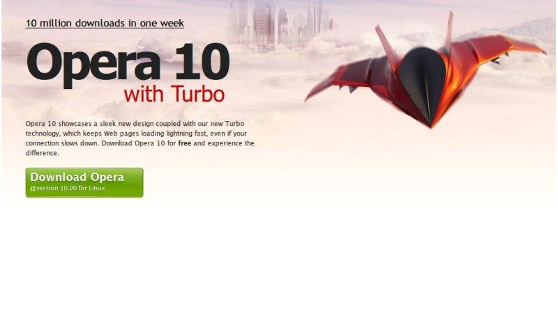 Opera 10 superati i 10 milioni di download