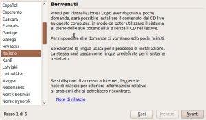 schermata benvenuto ubuntu 9.10