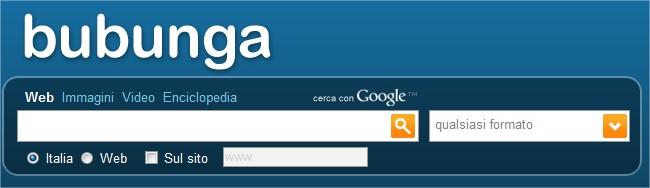 Bubunga: un motore di ricerca semplice semplice