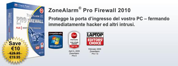 ZoneAlarm Pro Firewall 2010 gratis per un solo giorno