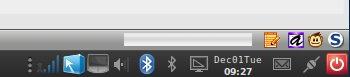 Orologio salva-spazio per Ubuntu Karmic