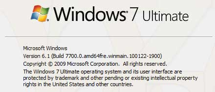 Inizia lo sviluppo di Windows 8: Windows 7 Build 7700