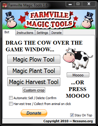 Occuparsi di Farmville Automaticamente con Farmville Magic Tools (gratis)