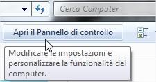 Visualizzare tutti gli elementi pannello di controllo Windows 7