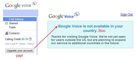 Google Voice è solo per gli utenti USA e canadesi per il momento