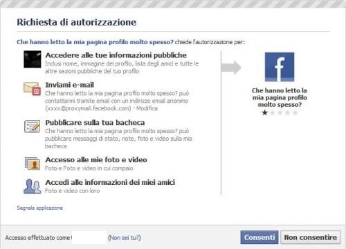 """Falso su Facebook: """"Chi Legge il Mio Profilo?"""""""