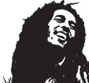 Bob Marley in versione vettoriale e monocromatica