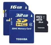 memory card SDHC e Micro SDHC da Toshiba velocissime.