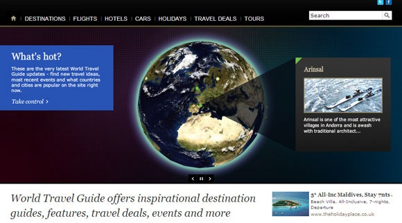 WorldTravelGuide guide turistiche web