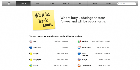 Apple Store Off-line, in arrivo i nuovi MacBook Pro