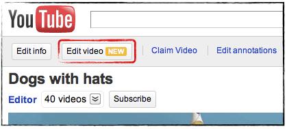 Edit video youtube
