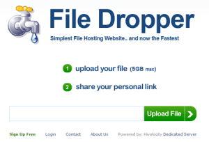 FileDropper - fino a 5Gb di allegato
