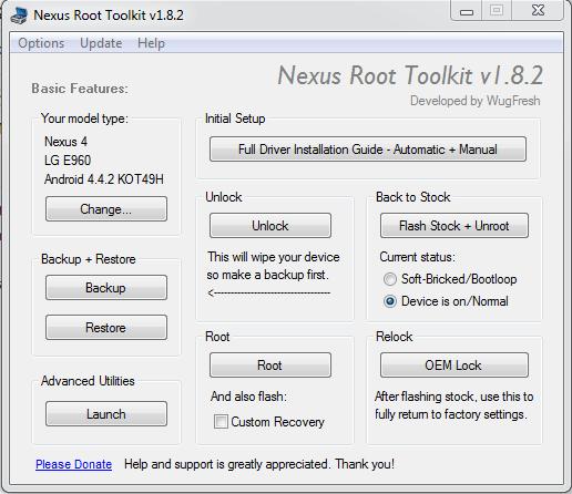 Nexus Root Toolkit: Root, Unlock, Relock ed Unroot Semplificati