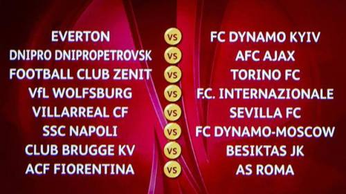 europa league accoppiamenti ottavi