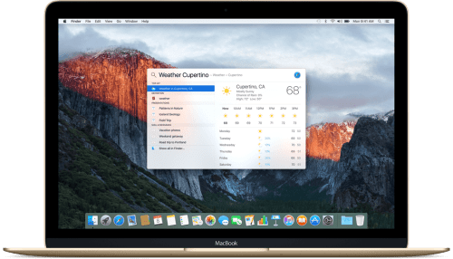 spotlight Apple OS X El Capitan