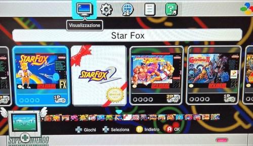 SNES Classic Mini schermata principale