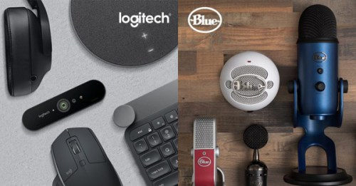 blue microphones and logitech